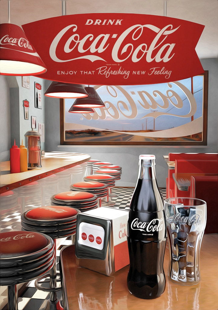 Coca Cola - American Diner | Modelled this in 3dsmax & light