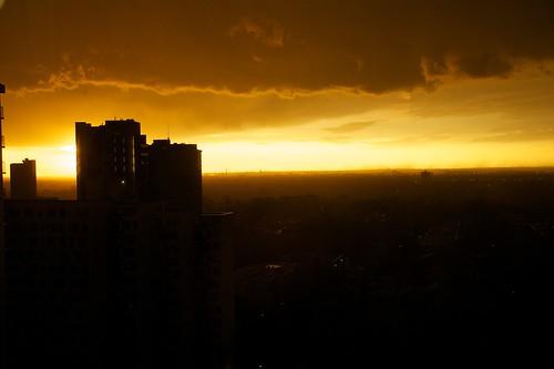 sunrise edmonton thunderstorm yeg