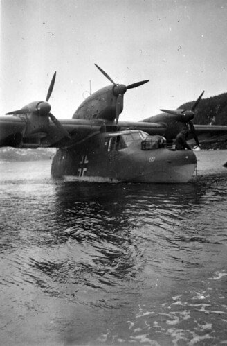 Tysk flybåt i Hemnesfjorden