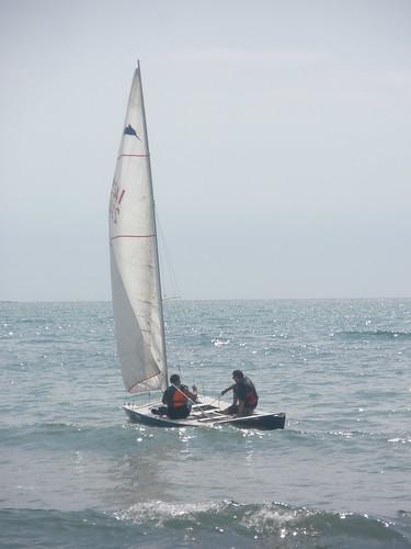 Travessa Alcanar-Calafell 2011. Sortida direcció al Delta. 30 de juliol 2011.