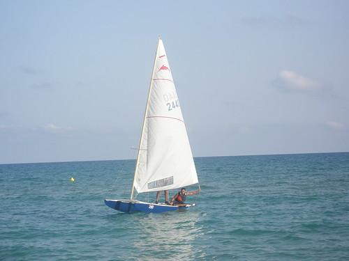 Travessa Alcanar-Calafell 2011. Arrivada l'1 d'agost 2011.