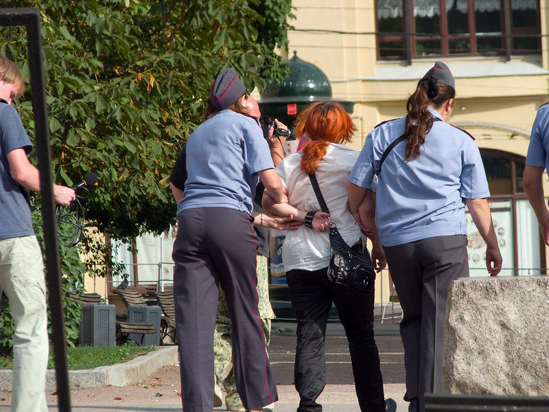 Moscow protesters arrested