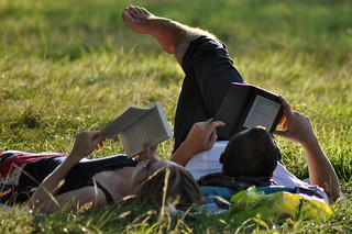 Paperback Book vs. Amazon Kindle | by MegMoggington