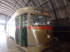 日, 2011-06-26 12:46 - The Shore Line Trolley Museum Brooklyn 1001, the 1st PCC car