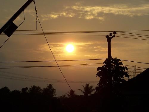 sunset sky orange nature yellow kodak z650