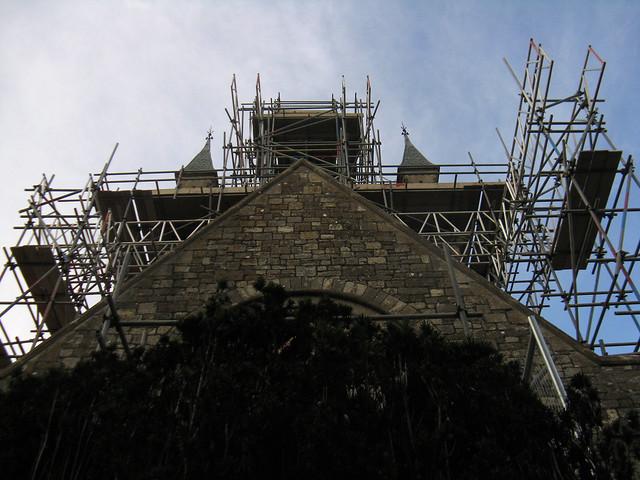Church of scaffolding