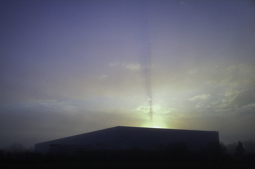 cameraphone morning shadow mist tower radio sunrise ray horizon crepuscular iphone 366 atmosphericphenomenon