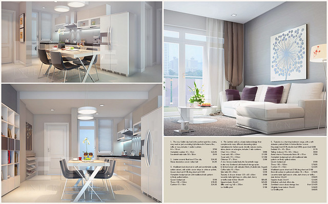 River Side apartment-Living & Dinning room