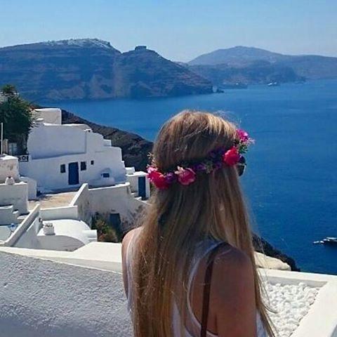 Coroa De Flores Flor Dalu Na Grécia Que Paisagem Linda
