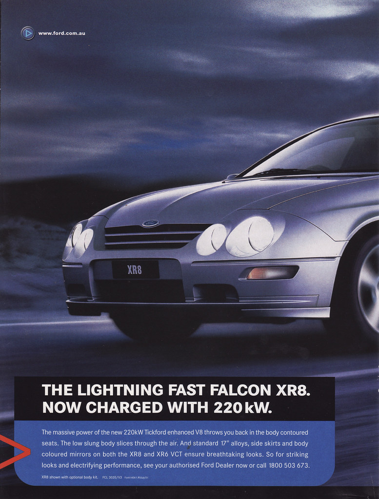 2001 Ford Au Falcon Xr8 Series 3 Ad Australia Covers The Flickr