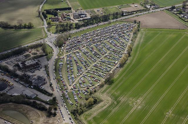 Aylsham Car Boot Sale - aerial image