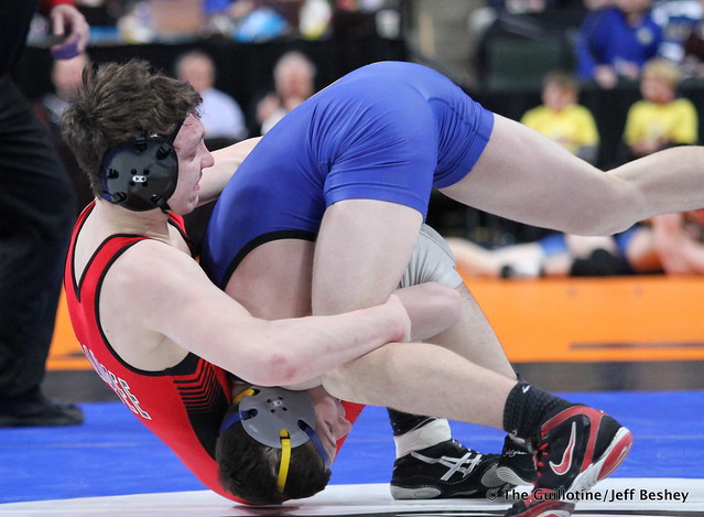 132AAA - Semifinal - Brent Jones (Shakopee) 44-2 won by decision over Adam McSorley (Hastings) 43-4 (Dec 5-3)