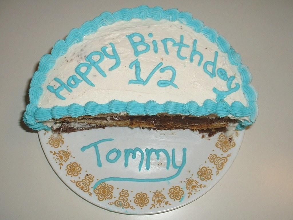 Peachy Half Birthday Cake 06 24 11 Possibly The Worst Decorated C Flickr Personalised Birthday Cards Veneteletsinfo