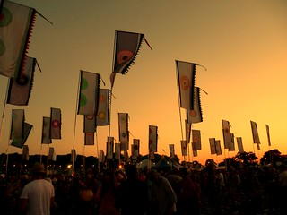 Sunset & Flags at West Holts | by sarah.snowdon