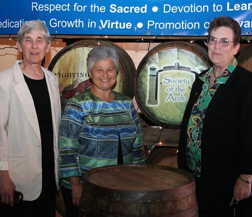 Sr. Julia Head, Sr. Carol Shively, and Sr. Sharon Sullivan