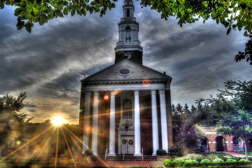 sunset church nikon steeple hdr sunflare upperstclair d5000