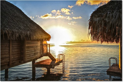 sunset sea polynesia mar tramonto mare moorea polinesia colorphotoaward thebestofday gününeniyisi