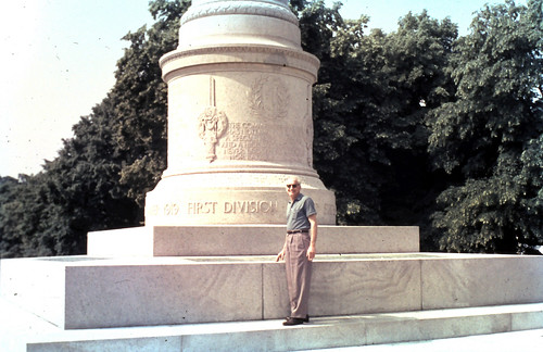 1965 - Jim at 1st Division Memorial