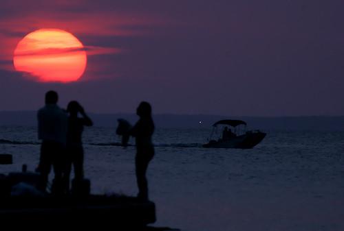 sunset texas summertime swimmers lakelivingston livingstontexas panoramafotográfico