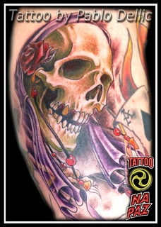 Morte , Reaper Tattoo by Pablo Dellic | by Pablo Dellic 
