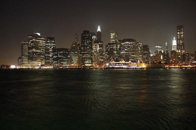 Night Skyline Manhattan
