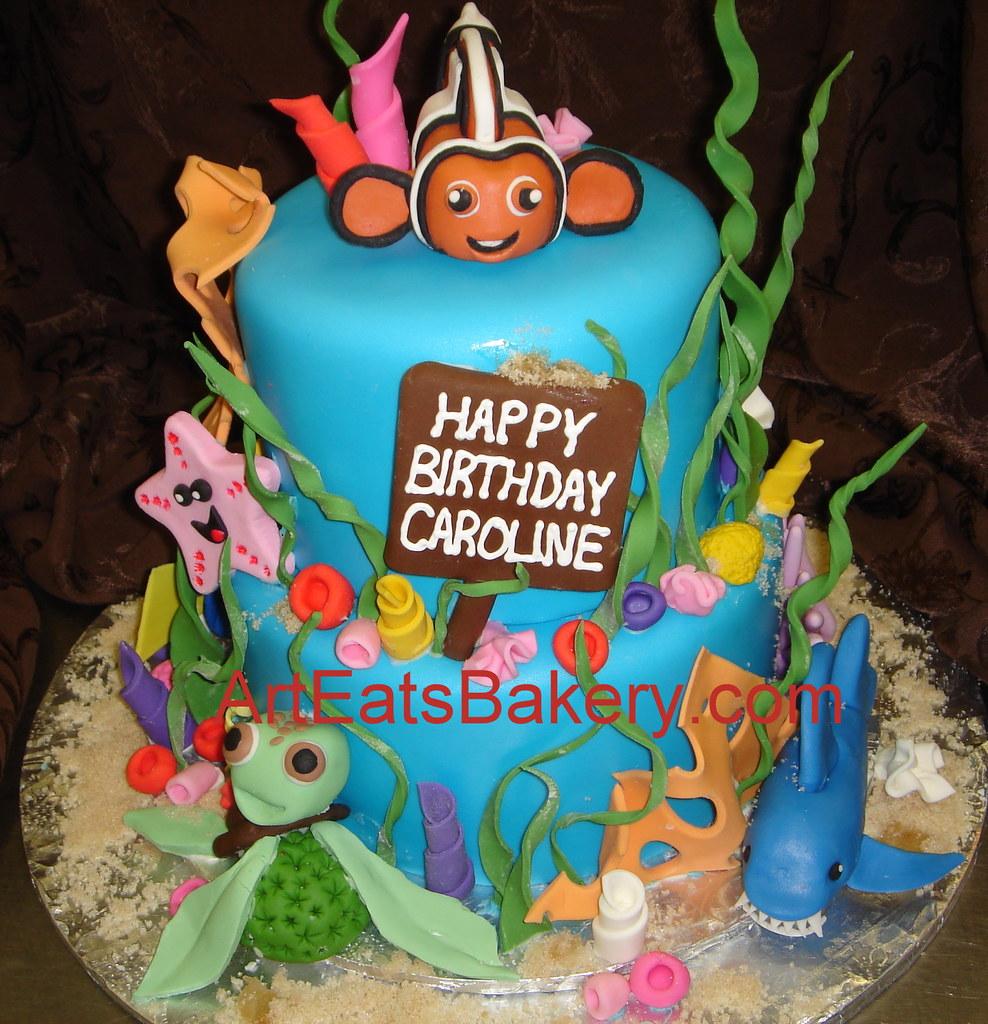 Fine Finding Nemo Custom Fondant Kids Birthday Cake With Fish Flickr Personalised Birthday Cards Akebfashionlily Jamesorg
