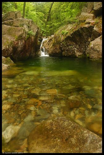 green water waterfall rocks newhampshire whitemountains nh nikond50 wmnf emeraldpool justinsmith baldfacemountain nikon1735mmf28 justinsmithphotocom