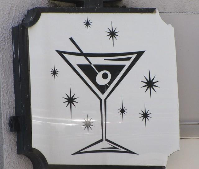Vintage plastic martini