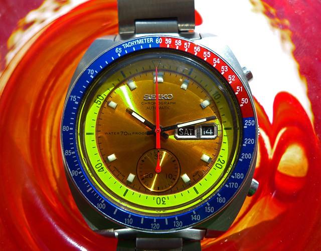 Vintage 1970's Seiko chronograph 6139