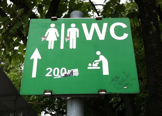 Salzburg WC sign