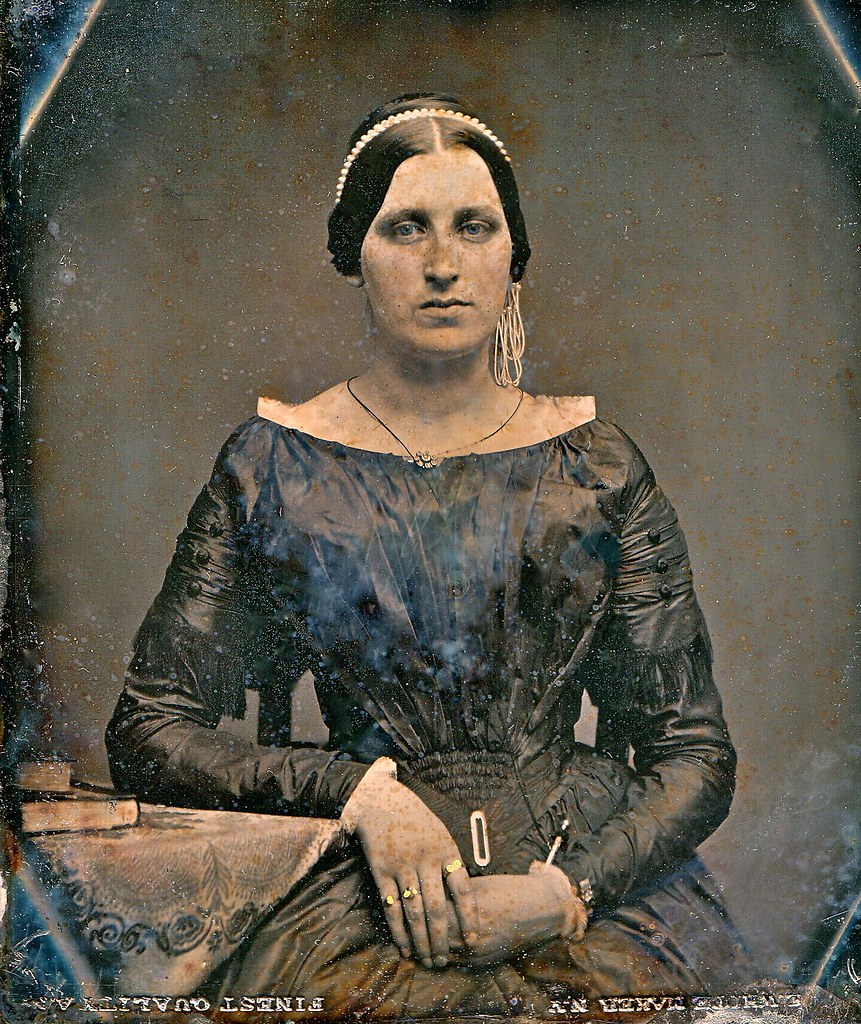 Blue-Eyed Beauty, E. White 1/6th-Plate Daguerreotype, Circa 1848