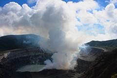 View of the main crater, Poás Volcano National Park / Vista del cráter principal, Parque Naciónal Volcán Poás