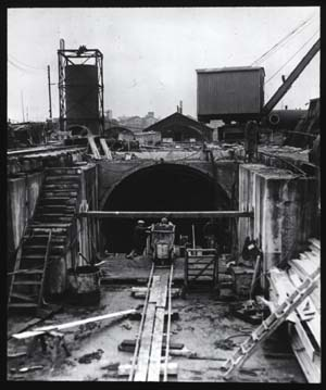 Jarrow site, tunnel entrance
