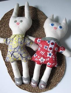 Wee Wonderfuls Bunny and Kitty