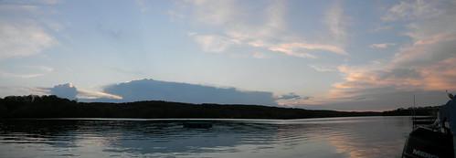 pink blue trees sunset panorama orange lake reflection water minnesota silhouette skyline clouds big dock colorful waves sundown dusk panoramic raft ripples mn avon coldspring watab
