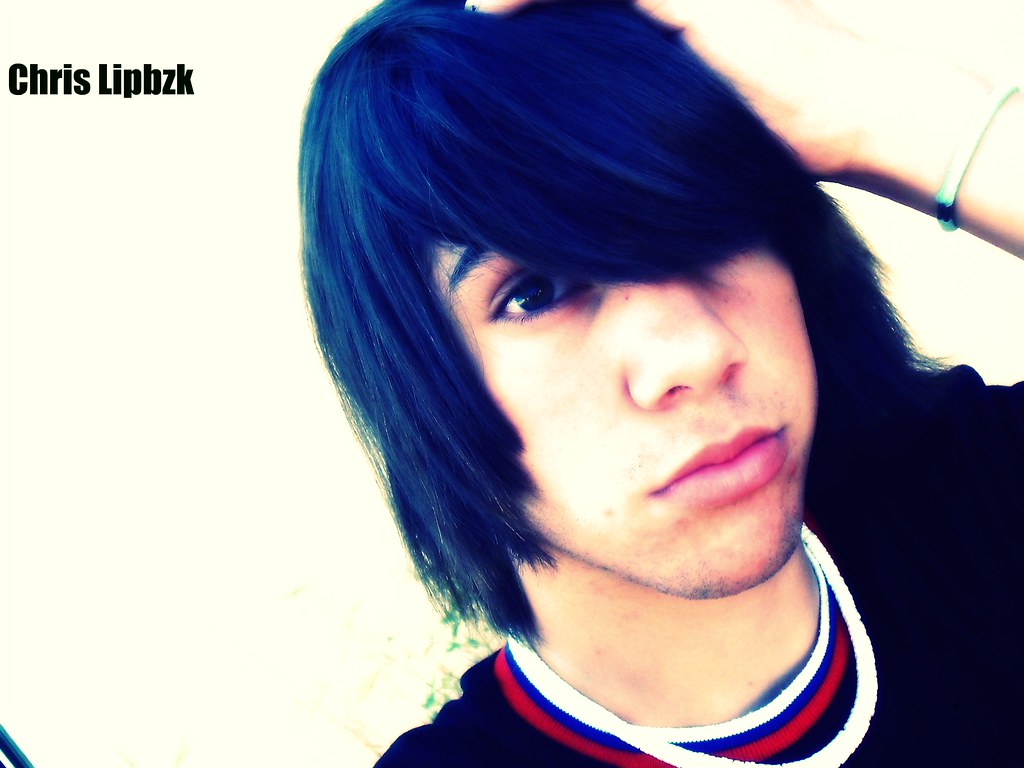 Dark Emo Boy Lipbzk Hearts Hair Style Rock Dark Emo Boy Li Flickr