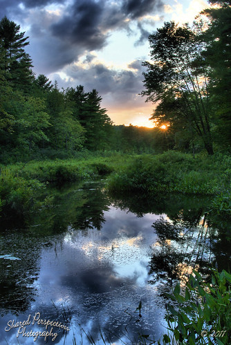 trees sunset sky sun water clouds reflections river landscape maine vegetation hdr limerick sonya200 sharedperspectivesphotography