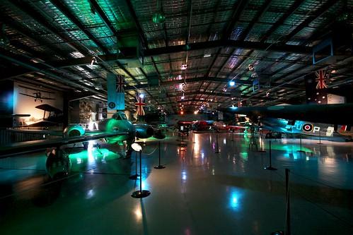 Display hangar at the Temora Aviation Museum