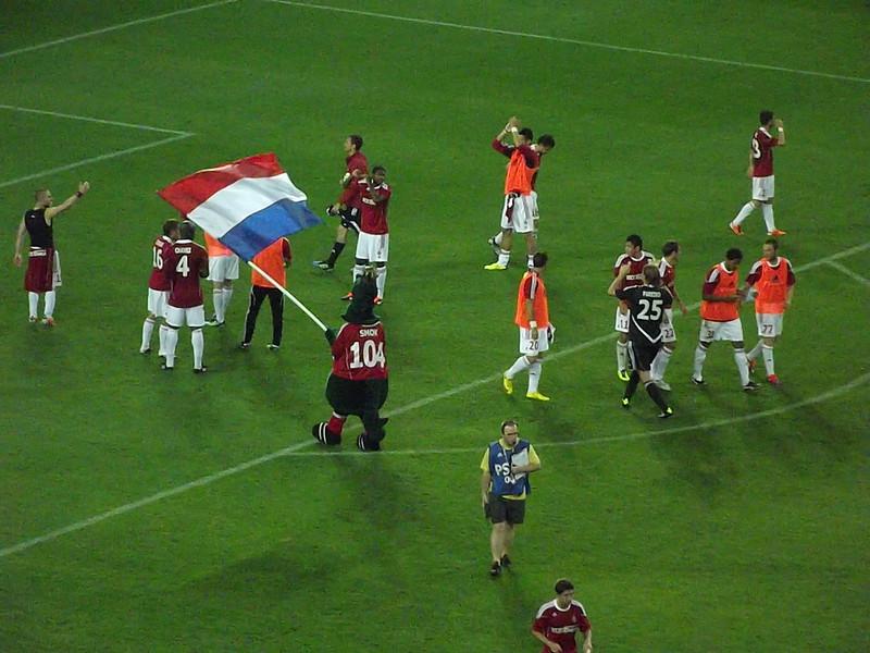 Radość piłkarzy Wisły po meczu