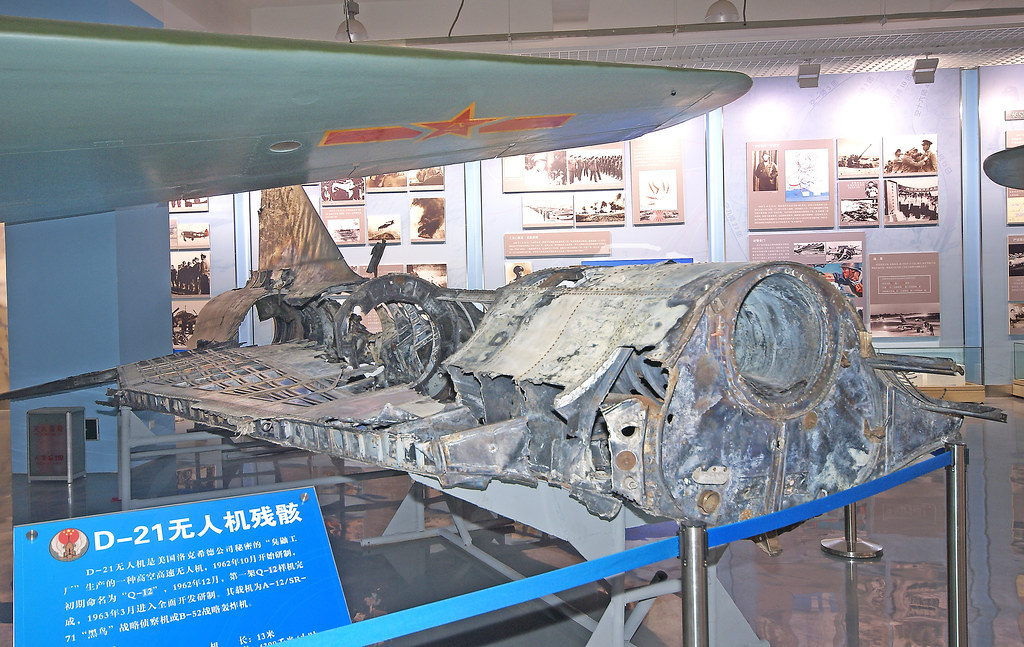 O D-21 capturado e exposto no Museu Aeronáutico da China