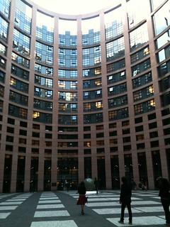 L'arrivée de bon matin au Parlement européen