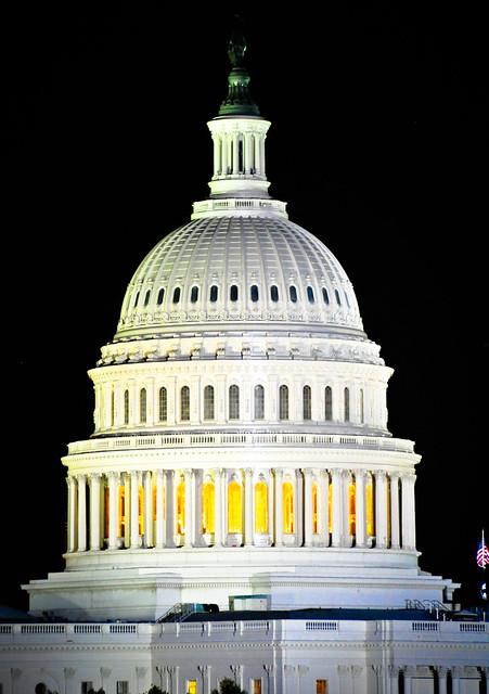 US Capitol Dome at Night - Washington DC