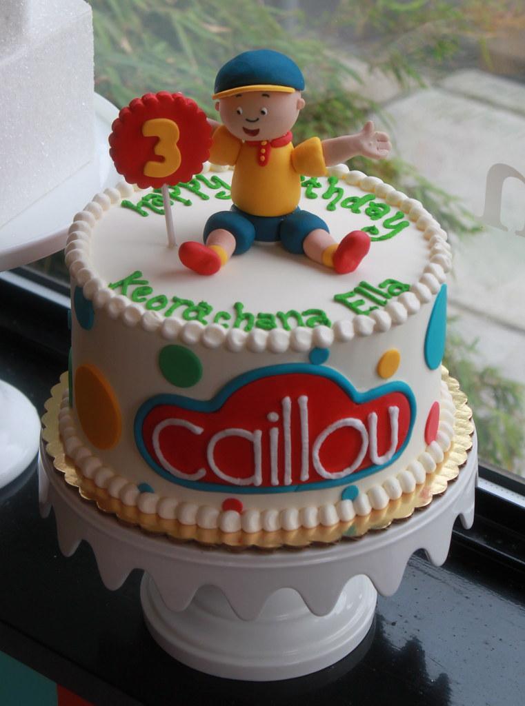 Super Caillou Birthday Cake Zoe Lukas Flickr Funny Birthday Cards Online Alyptdamsfinfo