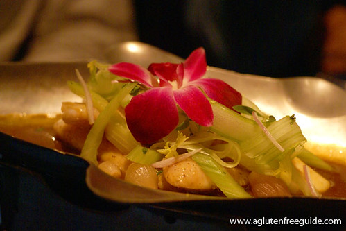 catfish with caramel sauce, celery, coriander root Next Restaurant Tour Of Thailand Menu Gluten-Free (18) | by yumcat