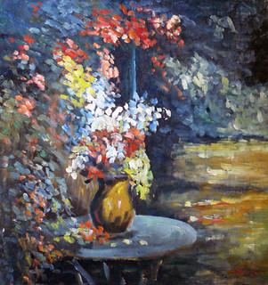 Flowers in a Spring Night   by Boris Savluc