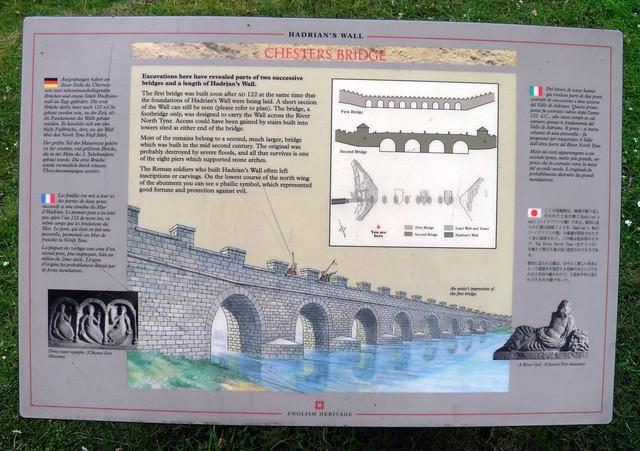 Chesters Bridge (Panel), Chesters Roman Bridge