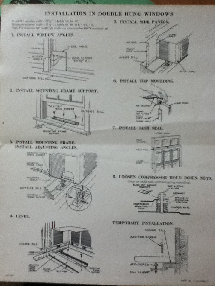 1951 Fedders Installation Instructions 1 | 1951 Fedders Inst ... on