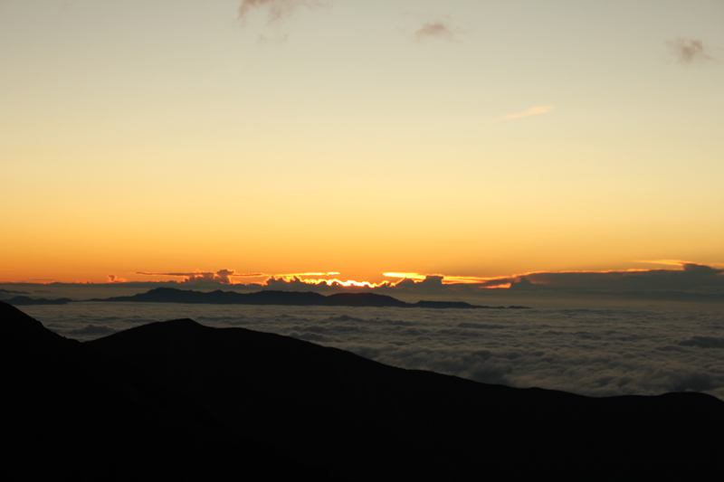 北岳の日の出