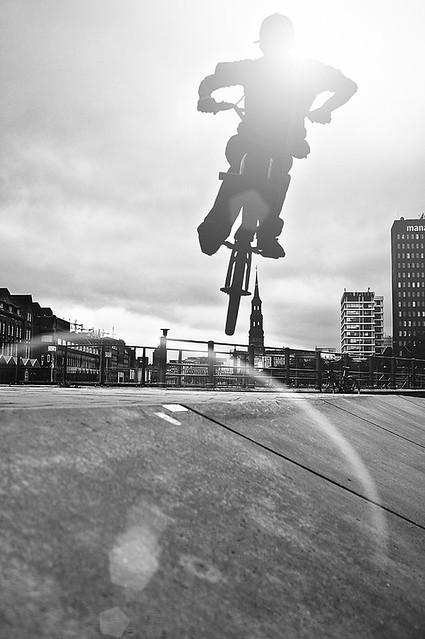 biker in Hamburg