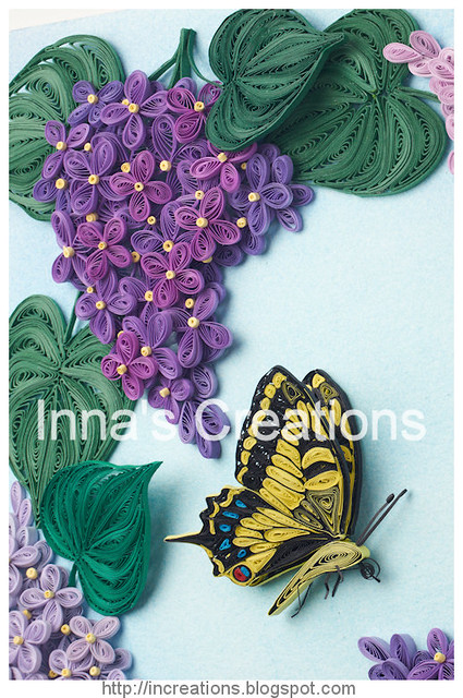Quilled swallowtail butterfly